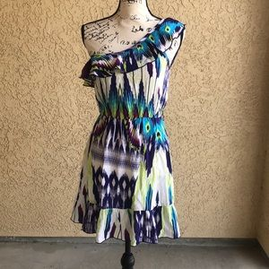 One Shoulder Colorful Dress size Small